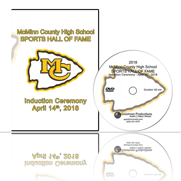 '2018 McMinn County High School SPORTS HALL OF FAME Induction Ceremony' DVD cover and disc