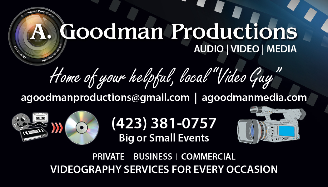A. Goodman Productions business card version 3